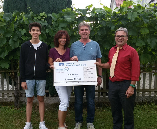 Bürgerstiftung Kressbronn - Fond für kranke Kressbronner: Familie Küchle
